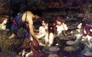 Hylas and the Nymphs(Ila e le Ninfe), olio su tela diJohn William Waterhouse, (1896),Manchester, City Art Galleries.
